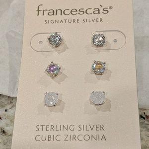 Francesca's Sterling Silver Earrings